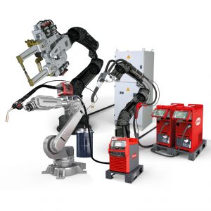 Robot áramforrások, Ponthegesztő karok